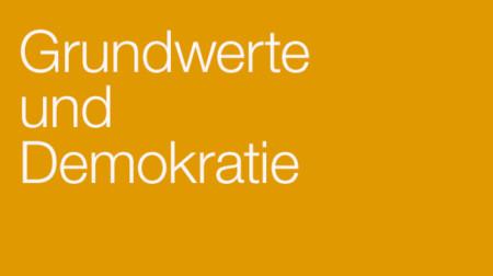 Banner Grundwerte und Demokratie